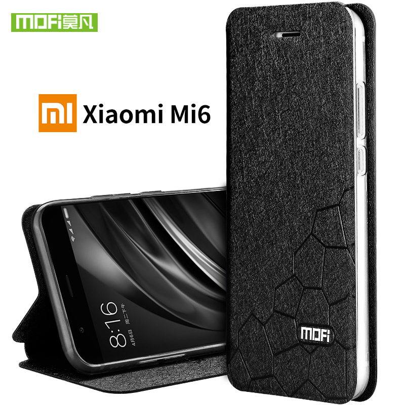 For Xiaomi Mi 6 Case Cover Silicon Back With Flip Luxury Leather Original Mofi Xiomi Mi