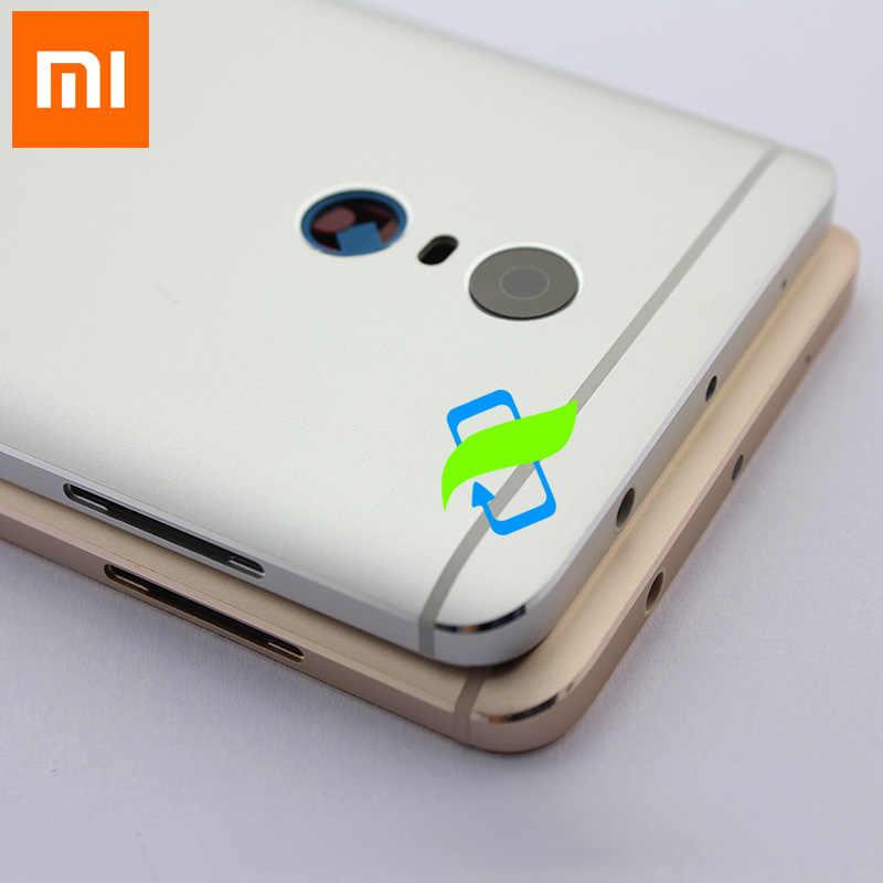 Оригинальная задняя крышка батарейного отсека для Xiaomi Redmi Note4 задняя крышка корпуса задняя дверь случай для Redmi Примечание 4 Кнопки громкости питания + объектив камеры