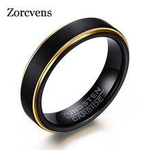 ZORCVENS-bague pour homme en carbure de tungstène, 6MM, noir et couleur or Cool, nouvelle collection 2020