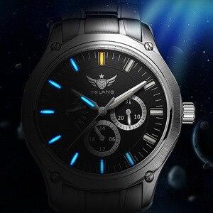 Image 3 - YELANG Tritium Montre pour hommes montres à Quartz T100 lumineux Auto Date Flyback étanche Sport Montre bracelet Montre Relogios V1027