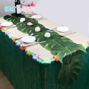 Monstera Leaves Artificial Leaf Placemats Tropical Birthday Wedding Table Decorations Summer Hawaii DIY Party Supplies Favors(China)