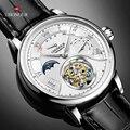 Роскошные швейцарские механические часы  мужские настоящие часы Tourbillon ST8007  мужские наручные часы с календарем