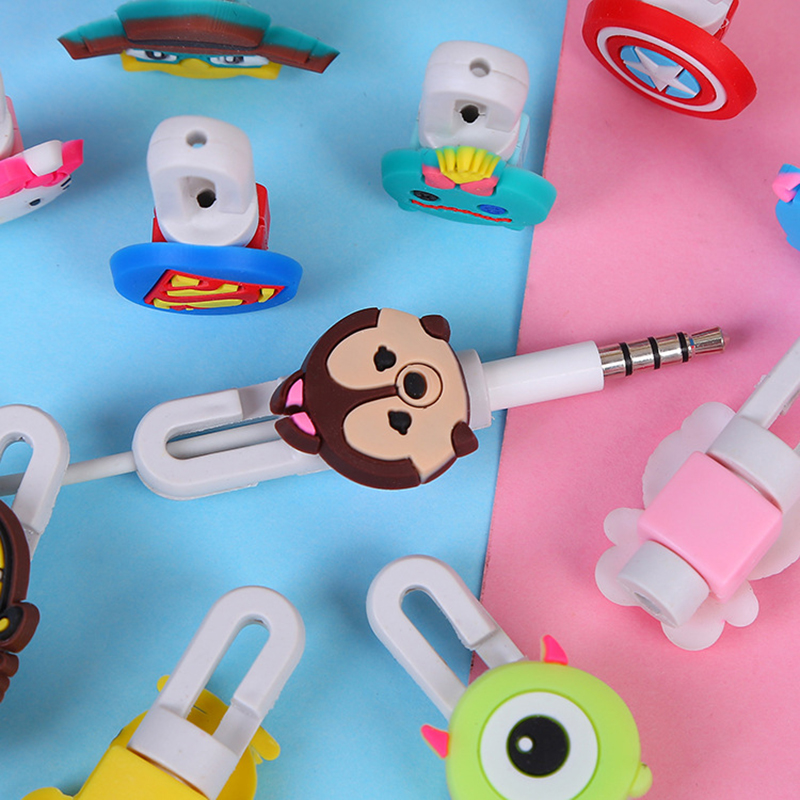 Image 2 - 1Pcs Lovely Cartoon Charger Cable Winder Protective Case Saver 8 Pin Data line Protector Earphone Cord Protection Sleeve Cover-in Cable Winder from Consumer Electronics