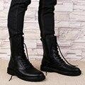 Grande Tamanho 48 Botas Militares Inverno Homens Couro Rachado da Vaca Botas táticas Homens Sapatos de Inverno da Pele Dos Homens Do Exército Botas Chaussure Homme