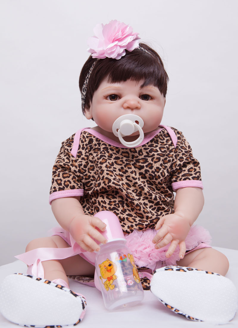 55cm Full Body Silicone Reborn Baby Doll Toys Bathe Toys Girl Babies Reborn Doll Christmas Present Birthday Gift Girls Brinquedo christmas gifts in europe and america early education full body silicone doll reborn babies brinquedo lifelike rb16 11h10