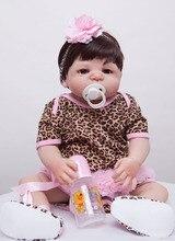 55 cm Full Body Silikon Reborn Baby Doll Zabawki Kąpać Zabawki Dziewczyna Niemowląt Reborn Lalka Świąteczny Prezent Urodzinowy Prezent Dziewczyny Brinquedo