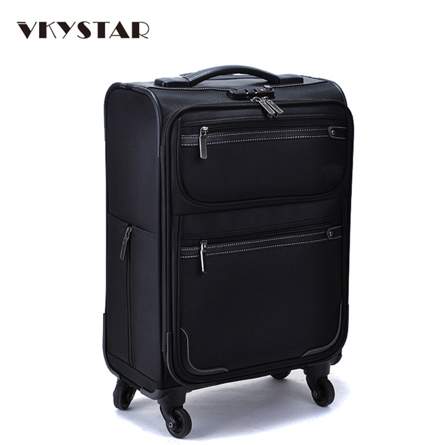 Oxford Trolley Bag Wheeled Luggage Vintage Large Rolling Travel Bag 22 Inch  Suitcase Sack Spinner Men Women Luggage Vkystar 007 e5b428c5c