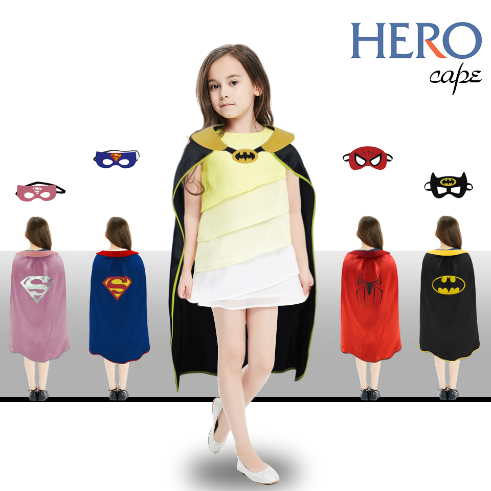 D.Q.Z L 27* Superhero Cape Mask Party For Girls Costume Decorations Event Gifts Cosplay  ...