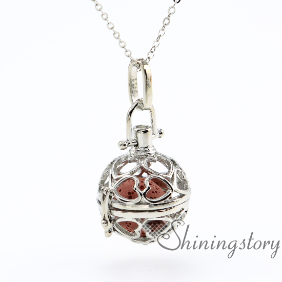 Heart ball openwork diffuser necklace aromatherapy jewelry heart ball openwork diffuser necklace aromatherapy jewelry wholesale essential oil necklace diffuser essential oil pendant lava in pendants from jewelry aloadofball Gallery