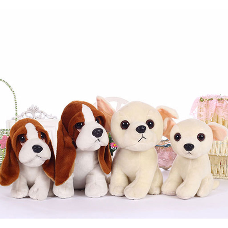 Stuffed Toys Squatting Bassat Hound Dog Chihuahua Puppy Kids Toy
