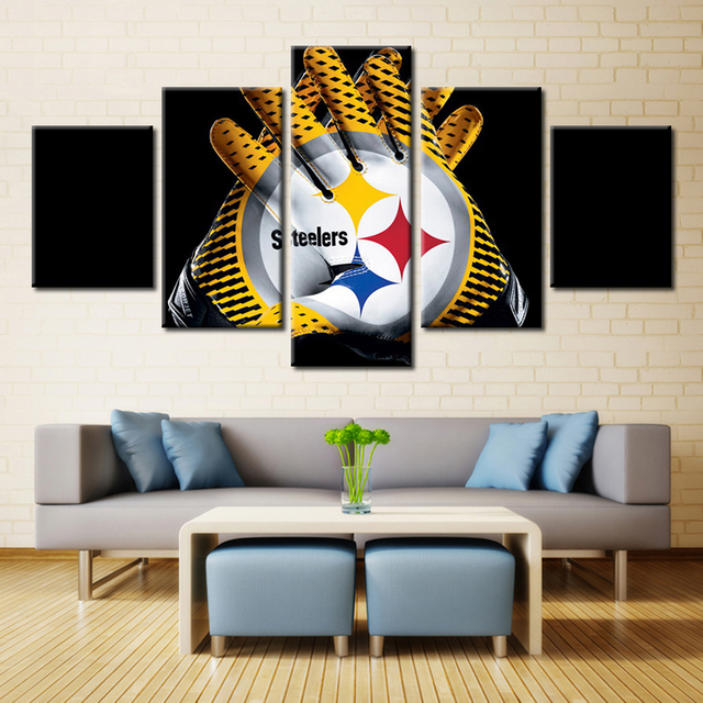 5 P Pittsburgh Steelers Guantes Imagen de Arte de Pared Decoración ...