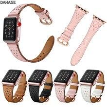 цена на Slim Genuine Leather Band for Apple Watch Strap 42mm 38mm Women's Belt Small Wrist Bracelet for iWatch Series 1 2 3 Watchbands