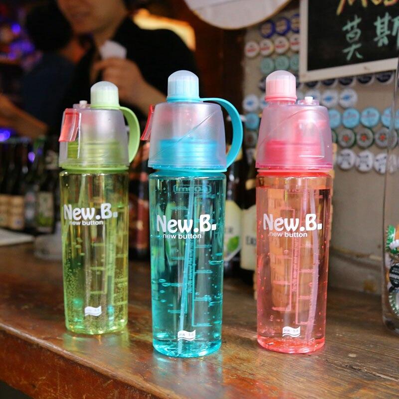 600 мл Портативный спортивные бутылки распыления бутылки спрей спортивные бутылки воды п ...
