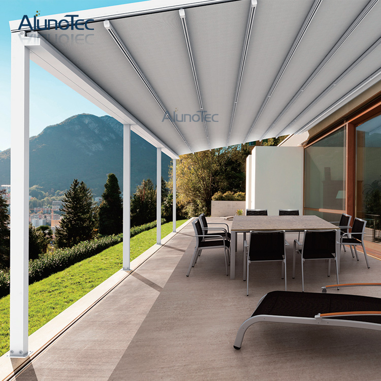 Modern Design Remote Control Electric Outdoor Aluminum Retractable Awnings 3m Width X Projection Height In From Home Garden On
