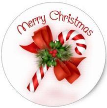 1.5 cal twardy cukierek w kształcie laski naklejki świąteczne