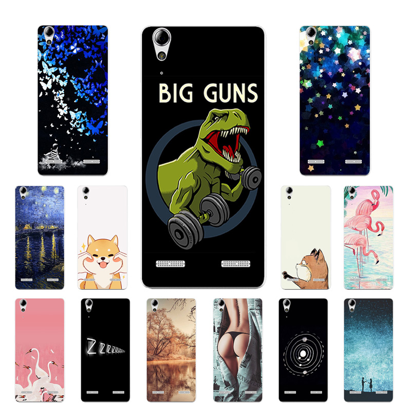 Soft TPU Phone Case for Lenovo A6010 Plus & A6000 & for Lenovo Lemon K3 K30-T Cover BIG GUN Printing K3 A 6000 <font><b>6010</b></font> Capa image