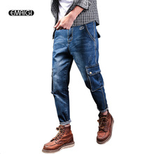 Male Denim Harem Pant Large Size 28-40 Men Street Fashion Hiphop Loose Jean Trousers