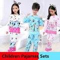 Nueva Llegada Pijamas de Los Cabritos 2016 Niños del Pijama Establece Niñas Casuales de Manga Larga ropa de Dormir pijamas de los niños Trajes De Noche Para Las Niñas