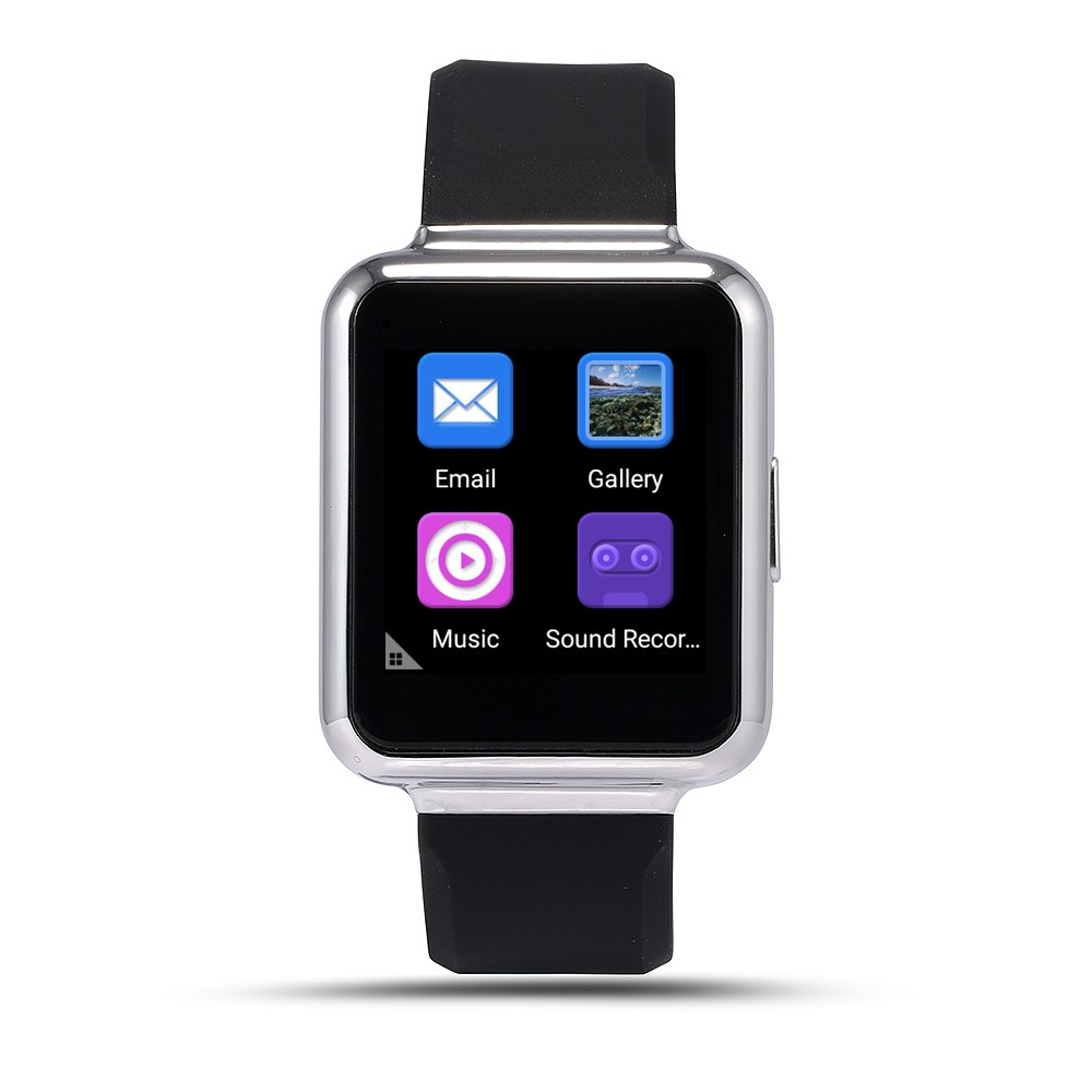 2016 Newest Q1 Android 5.1 OS MTK6580 Quad core Smart Watch 1.54″ Screen Support WiFi GPS 3G Sim Card Google Play SmartWatch