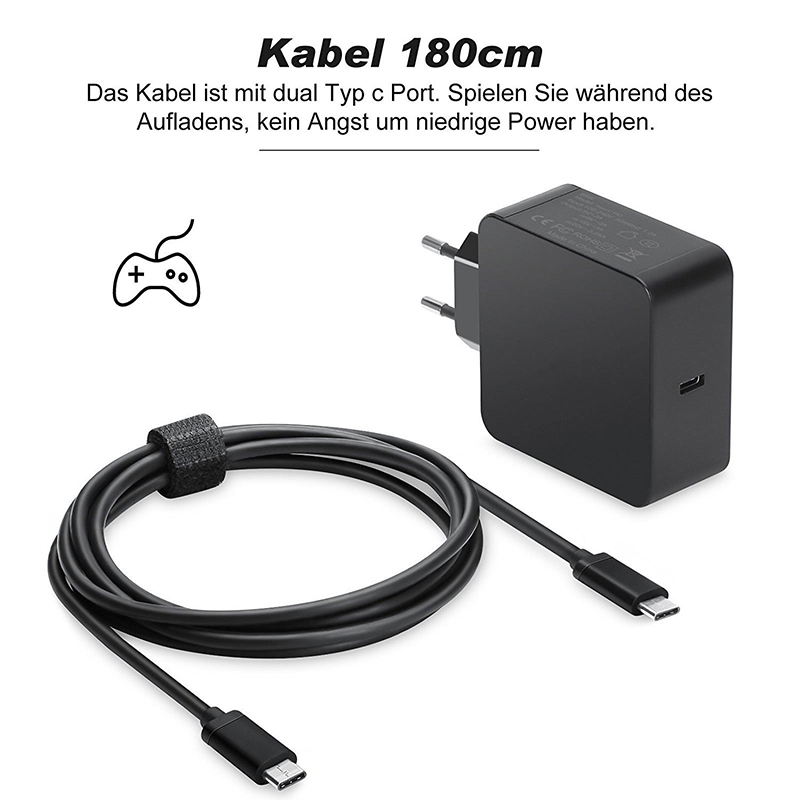 65w 20v 3.25a pd usb-c type c power laptop adapter for macbook pro 13 xiaomi air huawei matebook hp dell xps asus fast charger