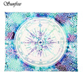 Sunfree 2017 HOT SALE  Compass Tribal Printed Wall Hanging Throw Tapestry Beach Towel Brand New High Quality Jan 12