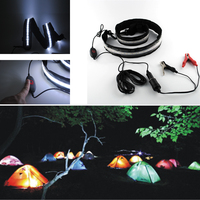Waterproof Camping Lamp LED Low Voltage Hanging Hiking Lamp Tent Outdoor Lighting Dimmable Multifunction with Battery