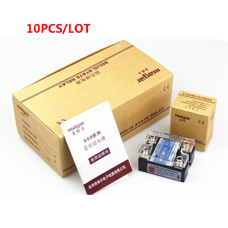 10 pcs/lot Mager SSR 25A 24V DC-DC Solid State Relay  MGR-1 DD220D25 mager genuine new original ssr 80dd single phase solid state relay 24v dc controlled dc 80a mgr 1 dd220d80