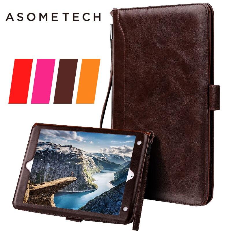 For Fundas Apple iPad 2 3 4 mini 1 2 3 4 luxury Business Pocketbook PU Flip Stand Case Smart Magnetic Awake sleep Cover coque
