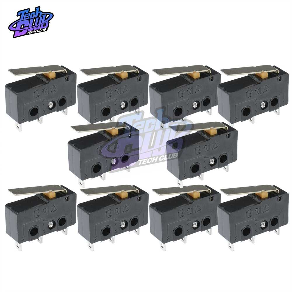 10 Pcs Tact Switch On Off KW11-3Z Micro Switch 5A 250 V Mikro 3Pin Gesper