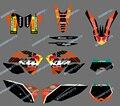Новый стиль ( бык черный 0408 ) команда графика и отличительные знаки для KTM SX XC XC-W EXC 2008 2009 2010 2011