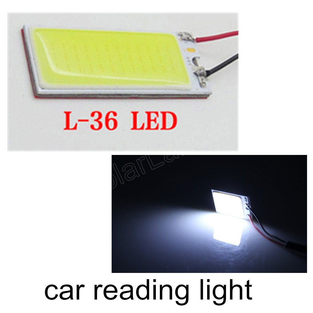best price sale 10pcs/Lot 3W Car Vehicle LED 36 SMD COB Chip 12V T10 Festoon Socket Panel Lamps Indicator Light