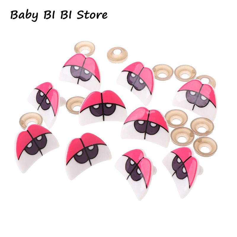 10pcs Cute Cartoon Safety Doll Eyes For Toy Bear Dolls Puppet Stuffed Animal Crafts Children DIY With Washers