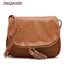 Jinqiaoer mujeres bolsos de cuero bolsos de diseño de alta calidad de lujo mujeres de los bolsos diseñador mujeres messenger bags