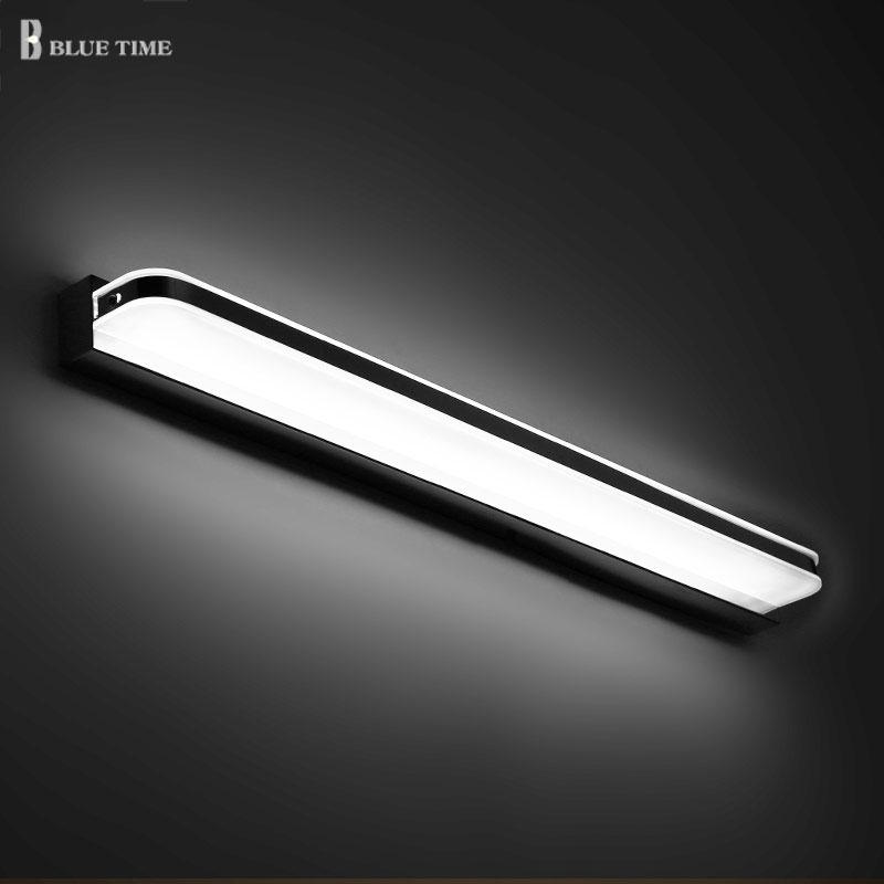 US $20.59 29% OFF|Acryl Moderne Led Wand Licht Glanz Bad Spiegel Front  Licht AC110V 220V Wand Leuchte Wand Lampe Badezimmer Lampe 120 100 80  60cm-in ...