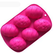 silicone cake mold small Easter eggs handmade soap mold 6 hole recovery mode DIY molds E905(China)