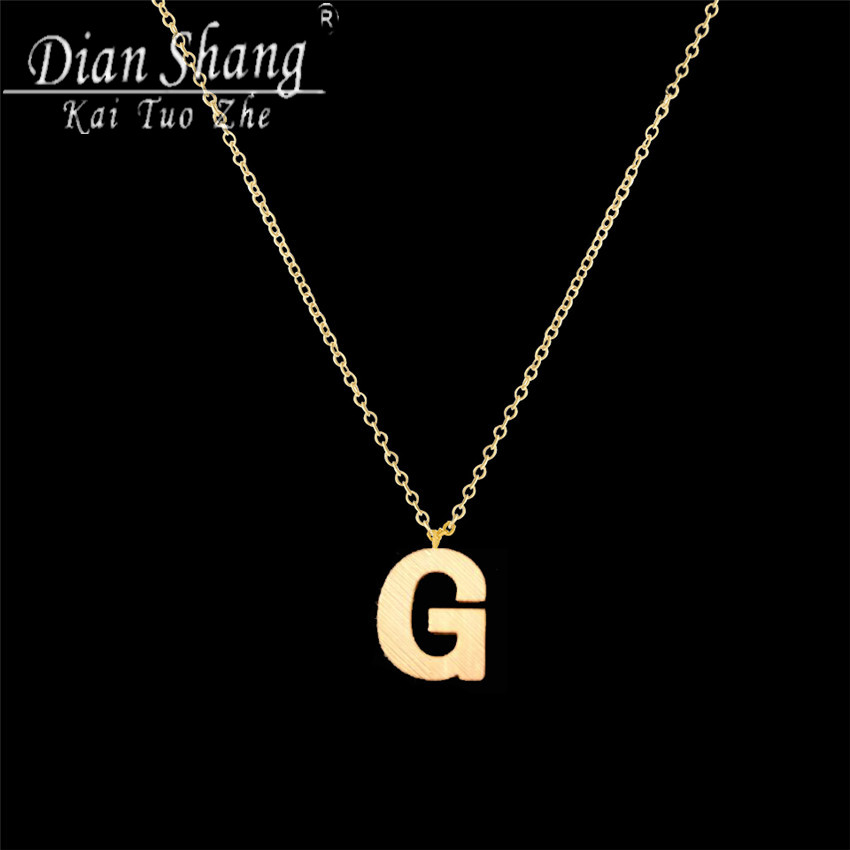 DIANSHANGKAITUOZHE Letter G Choker Necklace Women 3 colours Chocker Statement Long Necklace Fashion Necklaces Pendants(