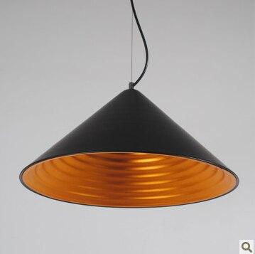 Краткий современный рожок персонализированный алюминиевый светодиодный подвесной светильник современный краткий домашний деко спиральная воронка подвесной светильник E27