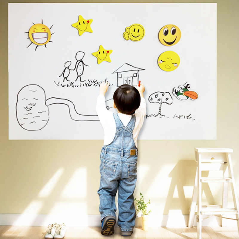 Removable 45*200cm 60*200cm Blackboard Whiteboard Home Decor Wall Stickers Chalkboard with Chalks Kids Rooms Office Poster