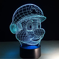Super Mario Bros Action Figure 3D Touch Led Night Light Colorful Hologram Atmosphere Lampara For Children Christmas Holiday Gift
