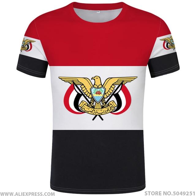 YEMEN maglietta fai da te di trasporto custom made nome numero di yem t shirt nazione bandiera ye islam arabi arabo paese repubblica stampa foto dei vestiti