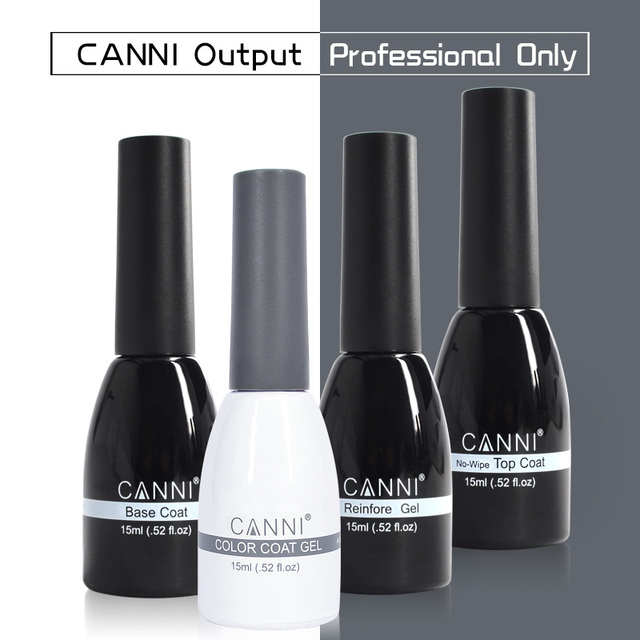 CANNI 15ml LED Nail Gel Varnish New Hottest Color Glitter Sequins Nail Art Paint Gel Lacquer Soak off Organic UV Nail Gel Polish