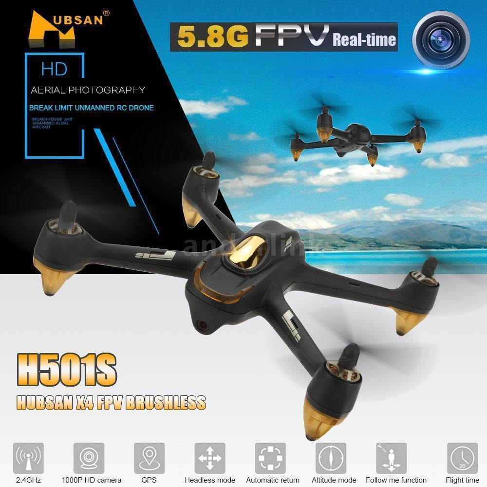 Hubsan H501S X4 Brushless FPV RC Quadcopter Drone with 1080P HD Camera GPS Follow Me Function Headless Mode Remote Control цена 2017