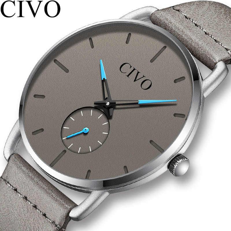 CIVO 2019 nuevos relojes para hombres, relojes de pulsera analógicos casuales impermeables, relojes de cuarzo de moda para hombres, reloj para hombre, reloj Masculino