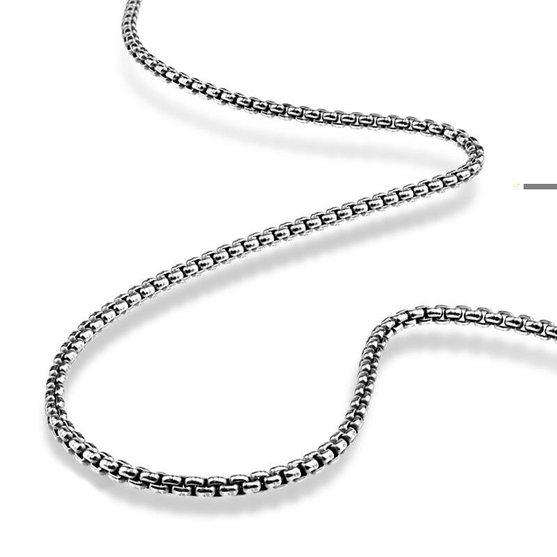 Retro mode sterling silver man pendant kalung Pria Thai kotak perak - Perhiasan bagus - Foto 1