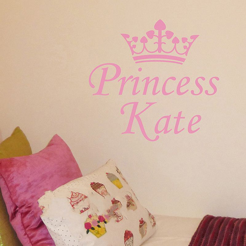 Us 9 99 Beautiful Customized Personalized Princess Crown Baby Name Children Bedroom Home Wall Sticker Vinyl Decal Mural Decor In