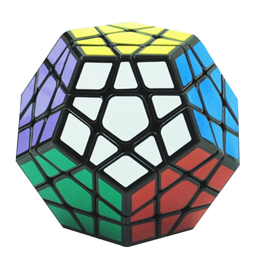 Megaminx Magic Cube En Plastique Mini Bloc de Jeu Antistress Jouet Brinquedos Main Spinner Cubos Magicos Puzzles Pour Enfants 50D0573