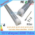 25PCS SMD 2835 T8 V shaped Integrated LED tube light 4ft=32W 5ft=42W 6ft=52W 8ft=70W 85-265V led tubes warranty 3 years