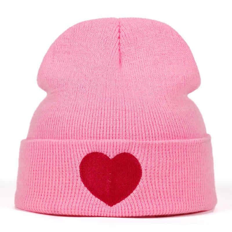 2018 new Love Knitted Beanie Skullies Winter Hat for Adult Men Women  Teenager Winter Hats Warm 8f161bd9dd07