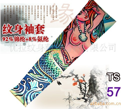 New hot driving sunscreen arm tatoo sleeve man & woman cool cycling temporary flash tattoo Stretchy scorpion fake tattoo sleeves 14