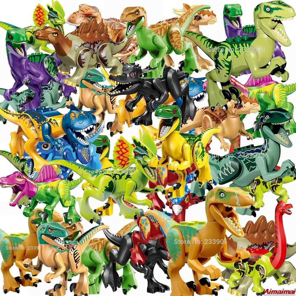 Legoing Animals Jurassic World 2 Park Dinosaurs Blocks Kids Toys Building Brick Children Birthday Christmas Gifts Dinosaur Model